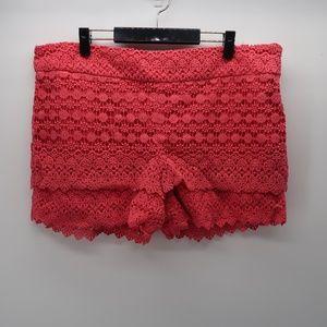 Ann Taylor LOFT Pink Embroidered Rivera Short